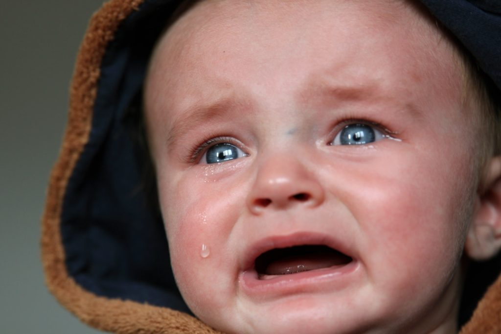 baby won't stop screaming crying face